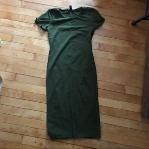 Forever 21 Midi Bodycon Dress - Size M - olive
